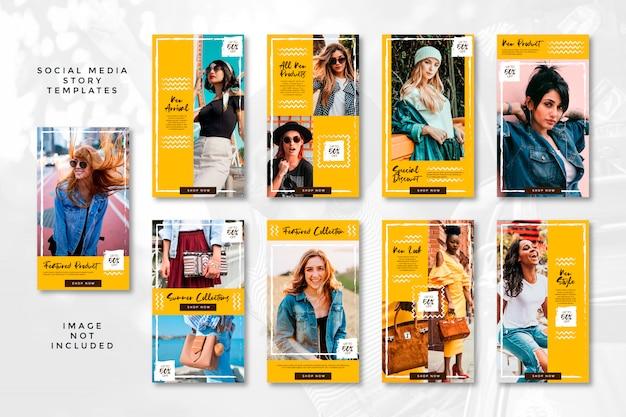 Collection d'histoire de médias sociaux de mode d'été