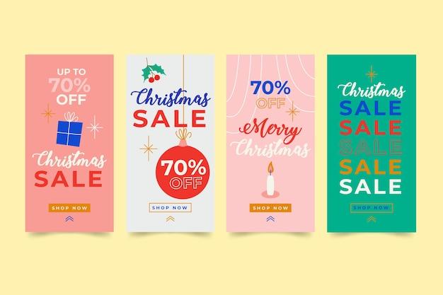 Collection d'histoire de vente de noël instagram