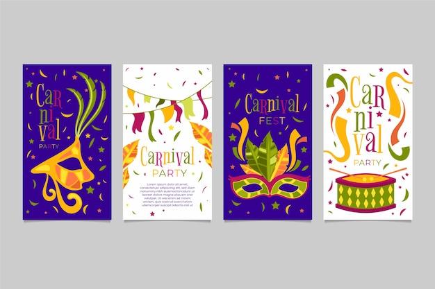 Collection d'histoires de fête de carnaval