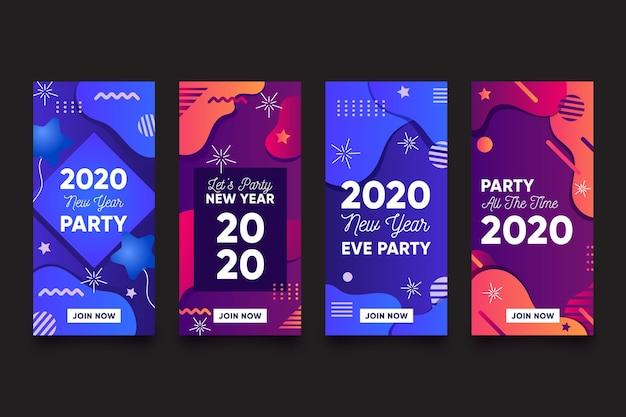 Collection d'histoires de fêtes du nouvel an instagram