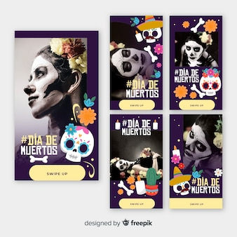 Collection d'histoires de fille instagram día de muertos