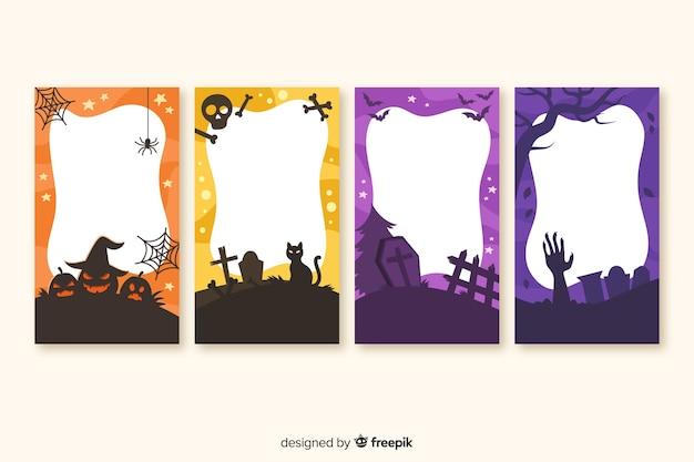 Collection d'histoires halloween avec espace copie