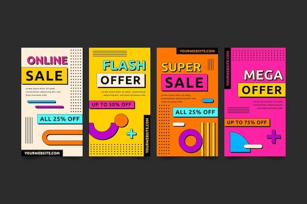 Collection d'histoires ig vente design plat