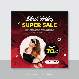 Collection d'histoires instagram black friday