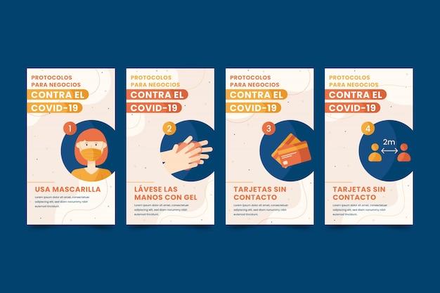 Collection d'histoires instagram sur le coronavirus