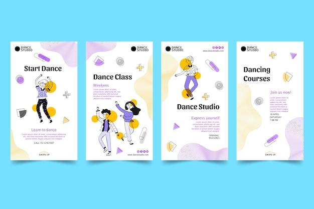 Collection d'histoires instagram dansantes