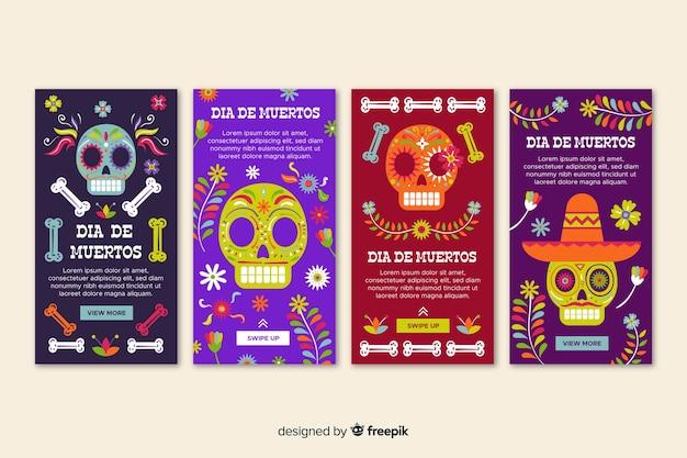 Collection d'histoires instagram día de muertos