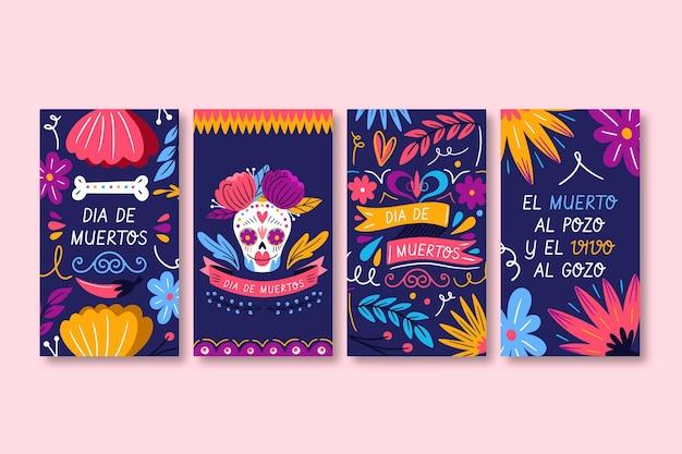 Collection d'histoires instagram de dia de muertos