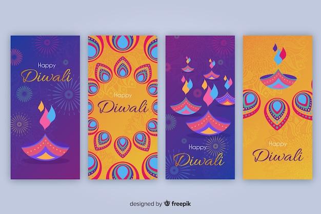 Collection d'histoires instagram diwali
