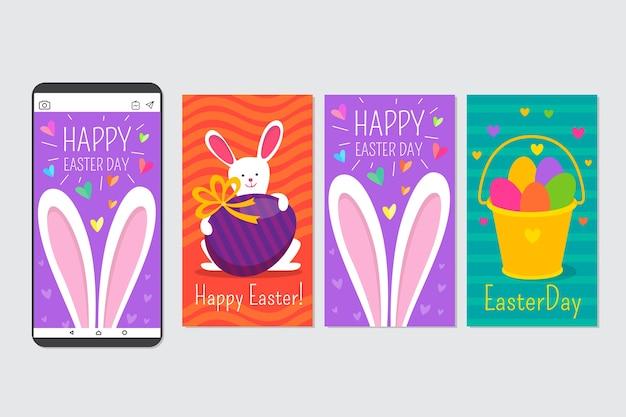 Collection d'histoires instagram du jour de pâques