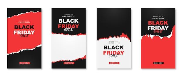 Collection d'histoires instagram du vendredi noir b
