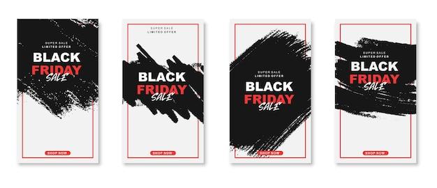 Collection d'histoires instagram du vendredi noir a