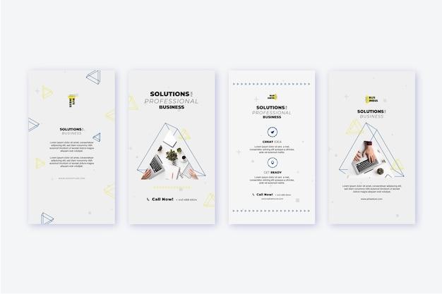 Collection d'histoires instagram d'entreprise générale