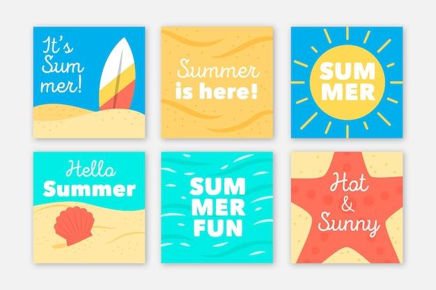 Collection d'histoires instagram d'été
