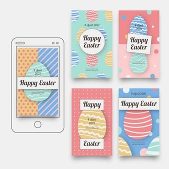 Collection d'histoires instagram jour de pâques