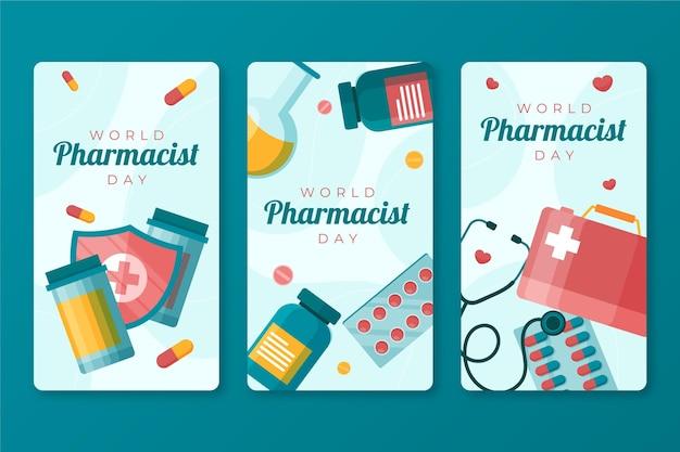 Collection d'histoires instagram de la journée du pharmacien