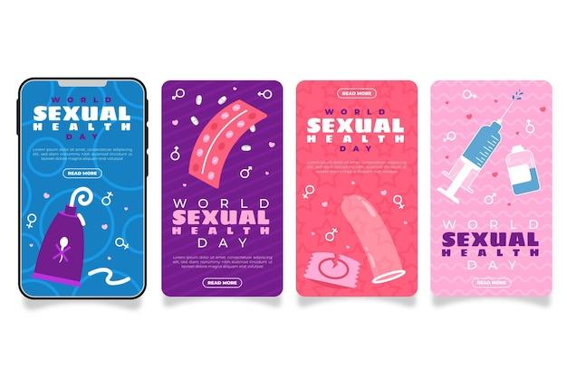 Collection d'histoires instagram de la journée mondiale de la santé sexuelle