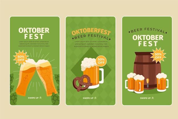Collection d'histoires instagram de l'oktoberfest