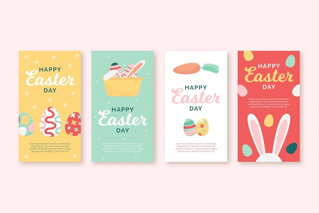 Collection d'histoires instagram de pâques