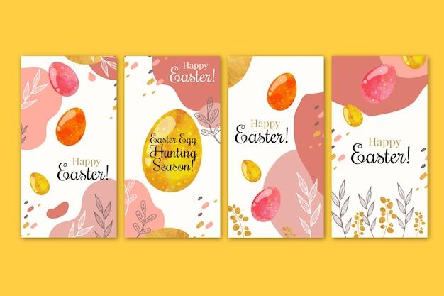 Collection d'histoires instagram pour le jour de pâques
