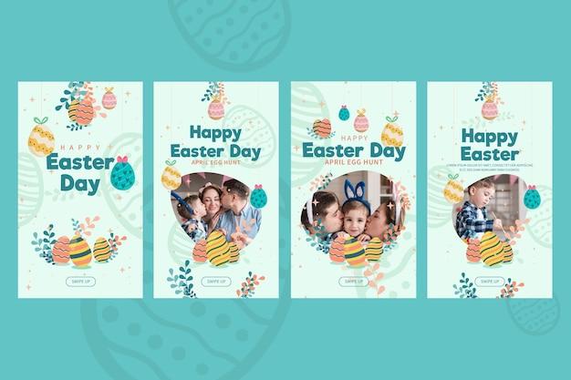 Collection d'histoires instagram pour pâques