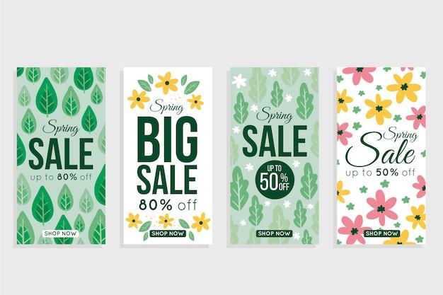 Collection d'histoires instagram pour la vente de printemps