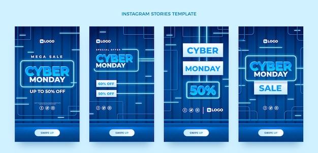 Collection d'histoires instagram réalistes du cyber lundi