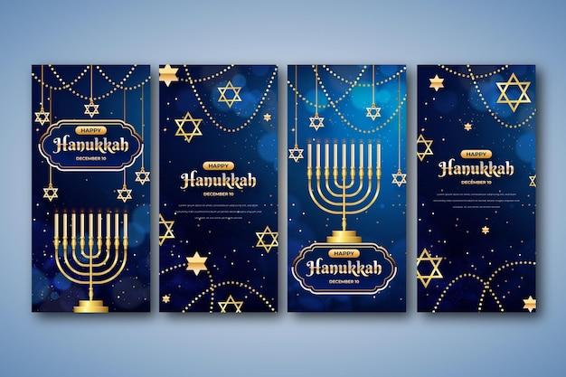Collection d'histoires instagram réalistes de hanoucca