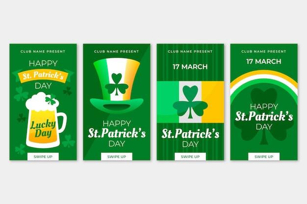 Collection d'histoires instagram de la saint-patrick