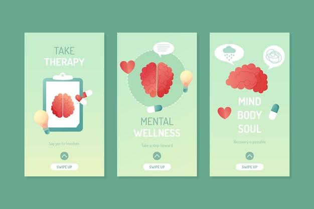 Collection d'histoires instagram sur la santé mentale