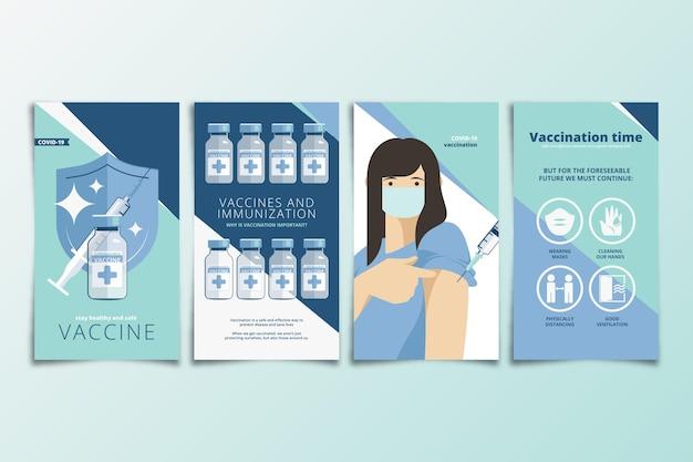 Collection d'histoires instagram de vaccination