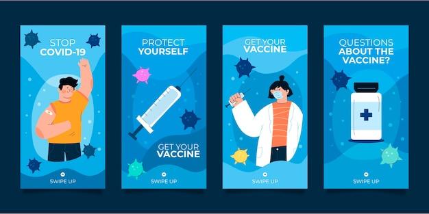 Collection d'histoires instagram de vaccins avec photos