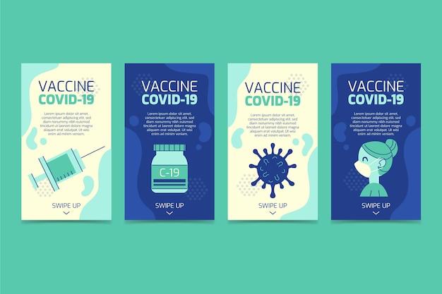 Collection d'histoires instagram de vaccins