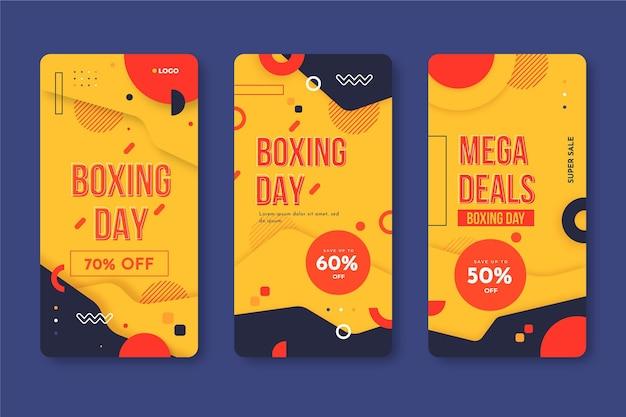 Collection d'histoires instagram de vente de boxe day