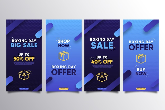 Collection d'histoires instagram vente boxing day