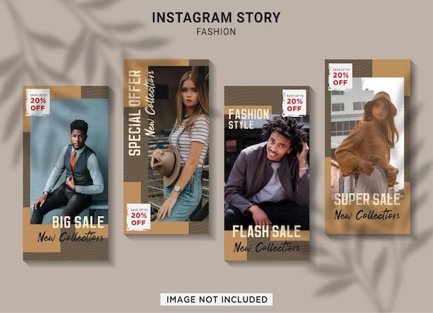 Collection d'histoires instagram de vente de mode