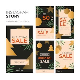 Collection d'histoires d'instagram de vente de noël
