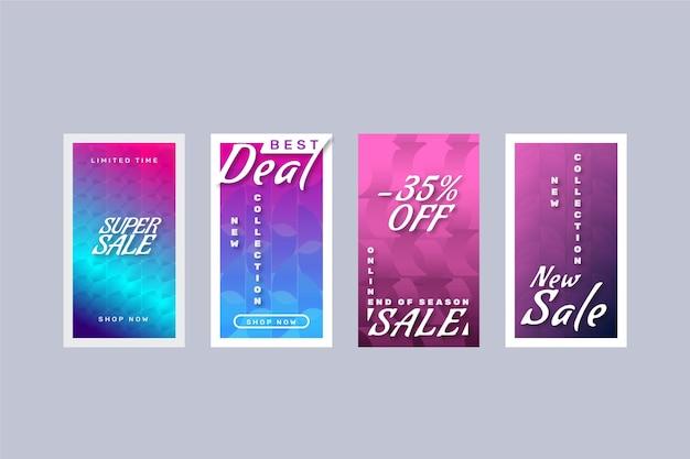 Collection d'histoires instagram de vente à prix réduit