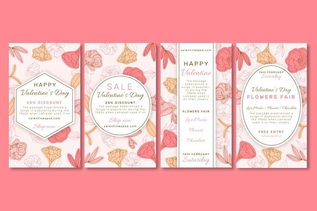 Collection d'histoires instagram vente saint valentin