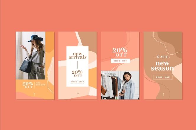 Collection d'histoires instagram de vente