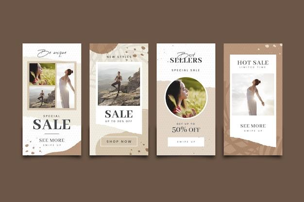 Collection d'histoires instagram de ventes spéciales