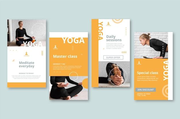 Collection d'histoires instagram de yoga