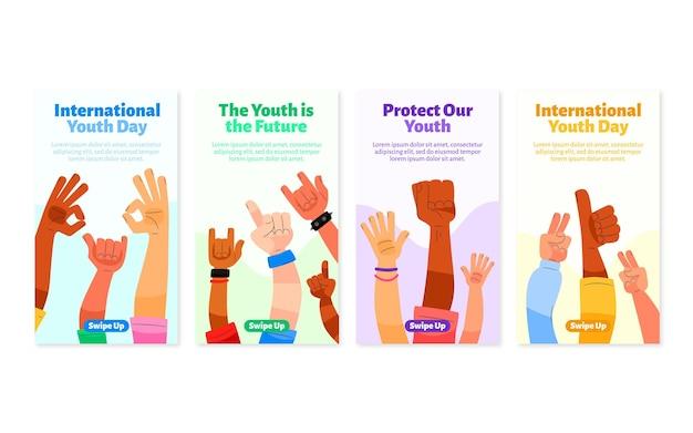 Collection d'histoires de la journée internationale de la jeunesse