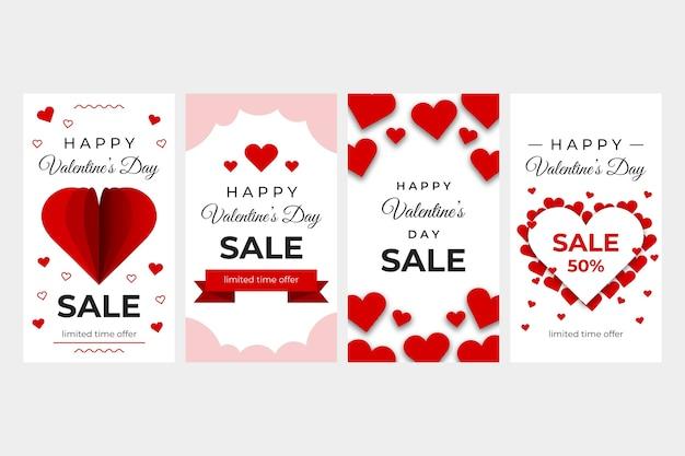Collection d'histoires de la meilleure vente de la saint-valentin