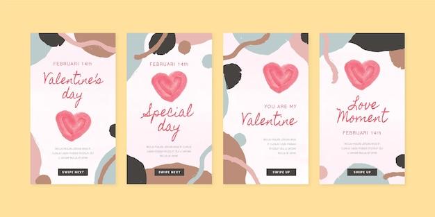 Collection d'histoires modernes de la saint-valentin