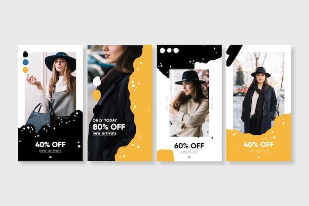 Collection d'histoires de vente instagram bio