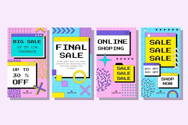 Collection d'histoires de vente instagram