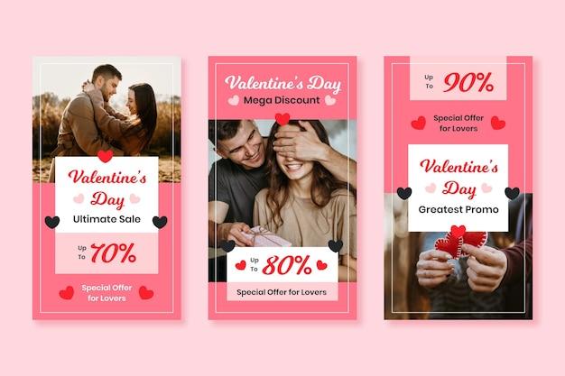 Collection d'histoires de vente saint valentin