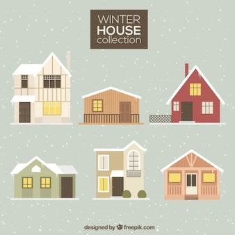 Collection hiver maisons