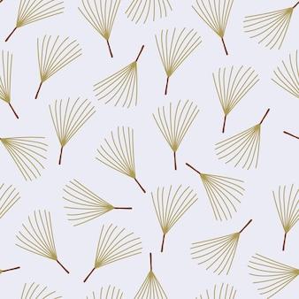 Collection d'hiver de modèle sans couture de brindille d'arbre de noël